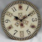 "12"" Round Playing Card Clock"