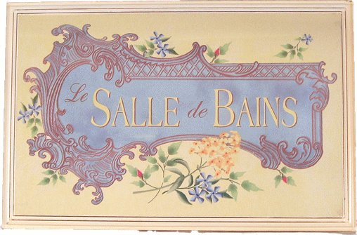 Romantic Bath Plaque-LeSalle