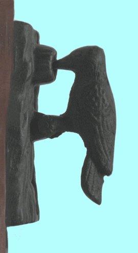 Cast Iron Woodpecker Door Knocker
