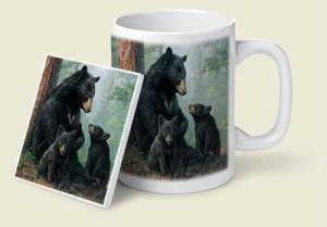 Black Bears Mug & Coaster