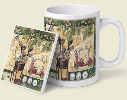 Golf Collage Mug & Coaster