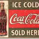 1916 Ice Cold Coke Sign