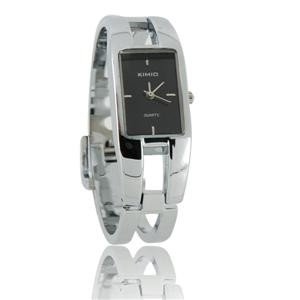 KIMID 1601 Stainless Steel Quadrate Bracelet Lady's Electronic Wrist Watch