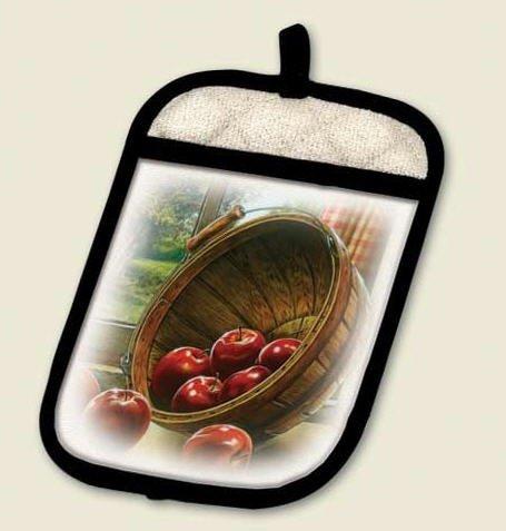 Apple Basket in Window Potholder