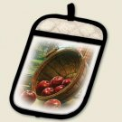 Apple Basket in Window Potholder