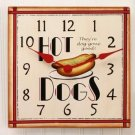 Hot Dog Clock from Sizzling Summer Collection