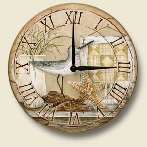 Large Shoreline Birds Wall Clock