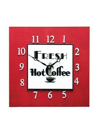 Retro Diner Style Coffee Clock