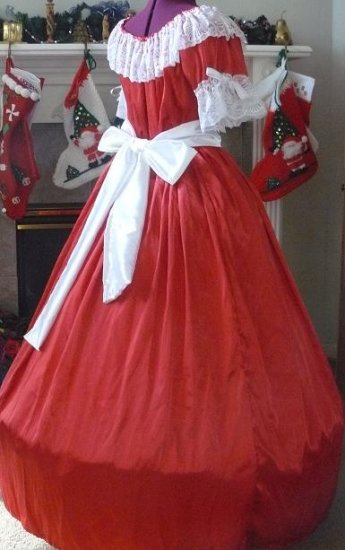 Civil War Ball Gown Reenacting Dickens Victorian Dress Other Colors Available