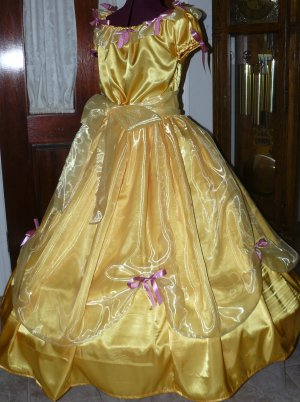 Princess Belle Civil War Ladies Ball Gown Victorian Dress Organza Ruffle, Other Colors Available