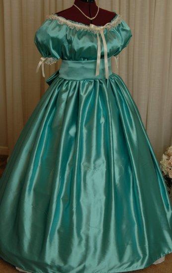 Civil War Ball Gown Reenacting Dickens Victorian Dress Ladies Junior Sizes
