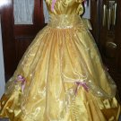 Princess Belle Civil War Junior Ladies Gown Reenacting Victorian Dress Organza Ruffle, Other Colors