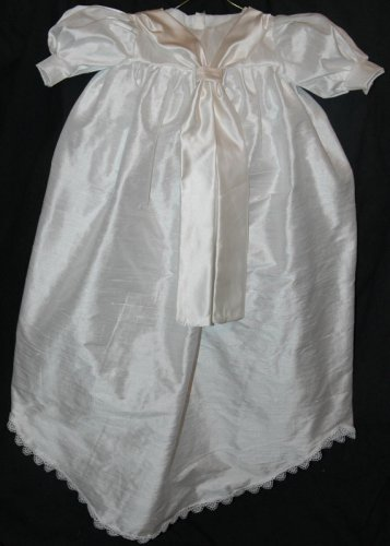 Custom Christening Baby Infant Baptism Gown Bonnet Hat Cotton Satin Style 4
