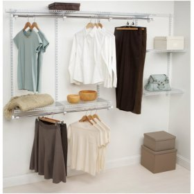 Rubbermaid Configurations 4- to 8-Foot Classic Custom Closet Kit, White, #3G59