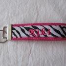 Hot Pink/Zebra Key Fob