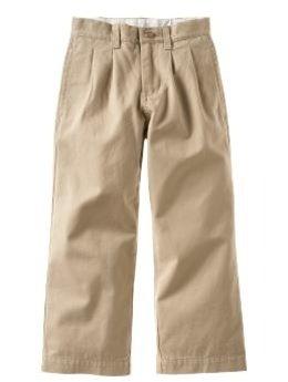 Boy's Khaki Uniform Pants