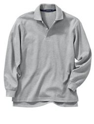 Adult unisex L/s Grey Polo shirt