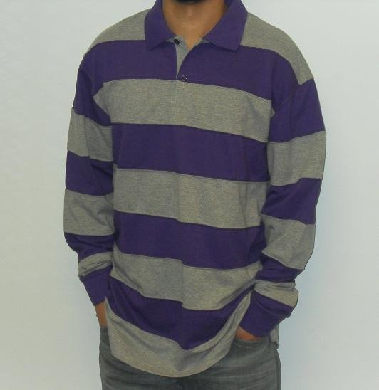 Remixed - LS Polo Shirt - Purple/Grey