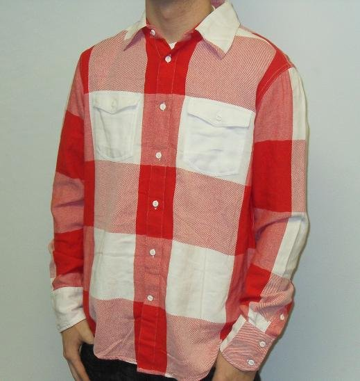 Metro Black - LS Button Down - Red/White