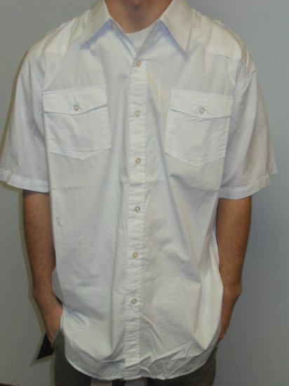 KOMAN - S/S Button Down - White