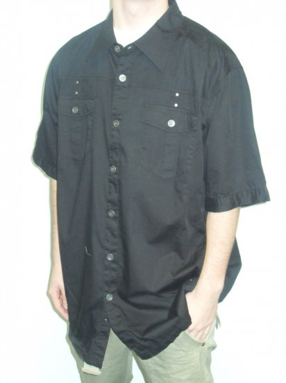 KOMAN - S/S Button Down - Black