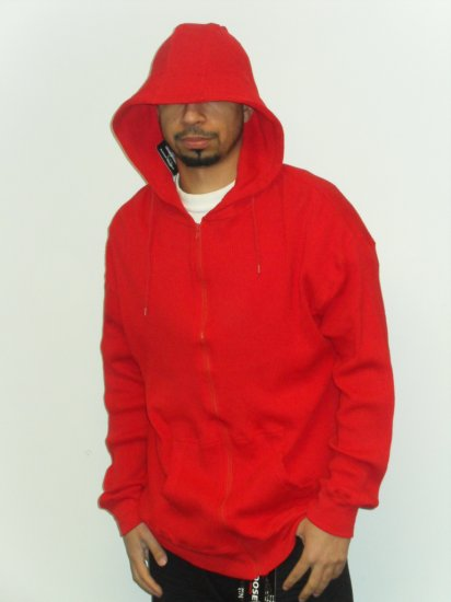 Cotton Heritage - Hooded Thermal - RED