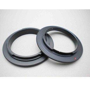 Nikon SLR camera- macro reverse adapter ring at 52mm, 55mm, 58mm, 62mm, 72mm, or 77mm