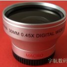30mm 0.45x WIDE Angle + Macro Conversion LENS 30 0.45