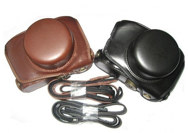 Panasonic GF1 camera leather case bag  in black or brown