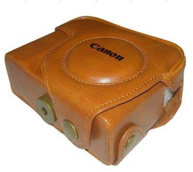Canon Powershot G10 14.7MP Digital Camera leather case bag