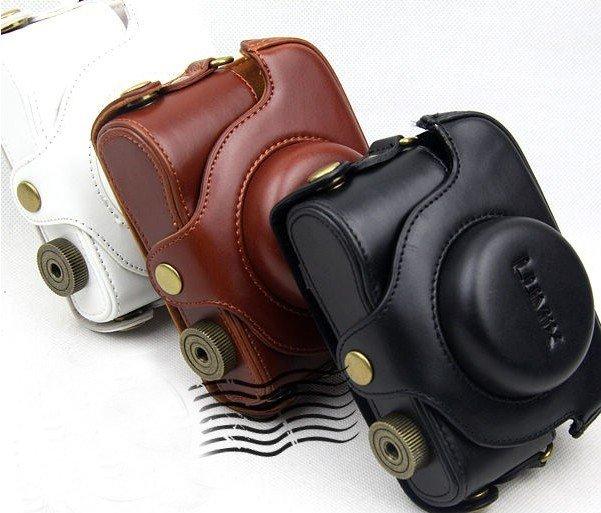 Panasonic Lumix LX5 DMC-LX5 LX-5 10.1 MP Digital Camera leather case bag BLACK, BROWN OR WHITE
