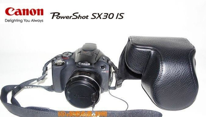 Canon sx30 SX30IS 14.1MP Digital Camera leather case bag