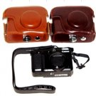 Canon Powershot G12 digital camera leather case bag  in light brown or dark brown