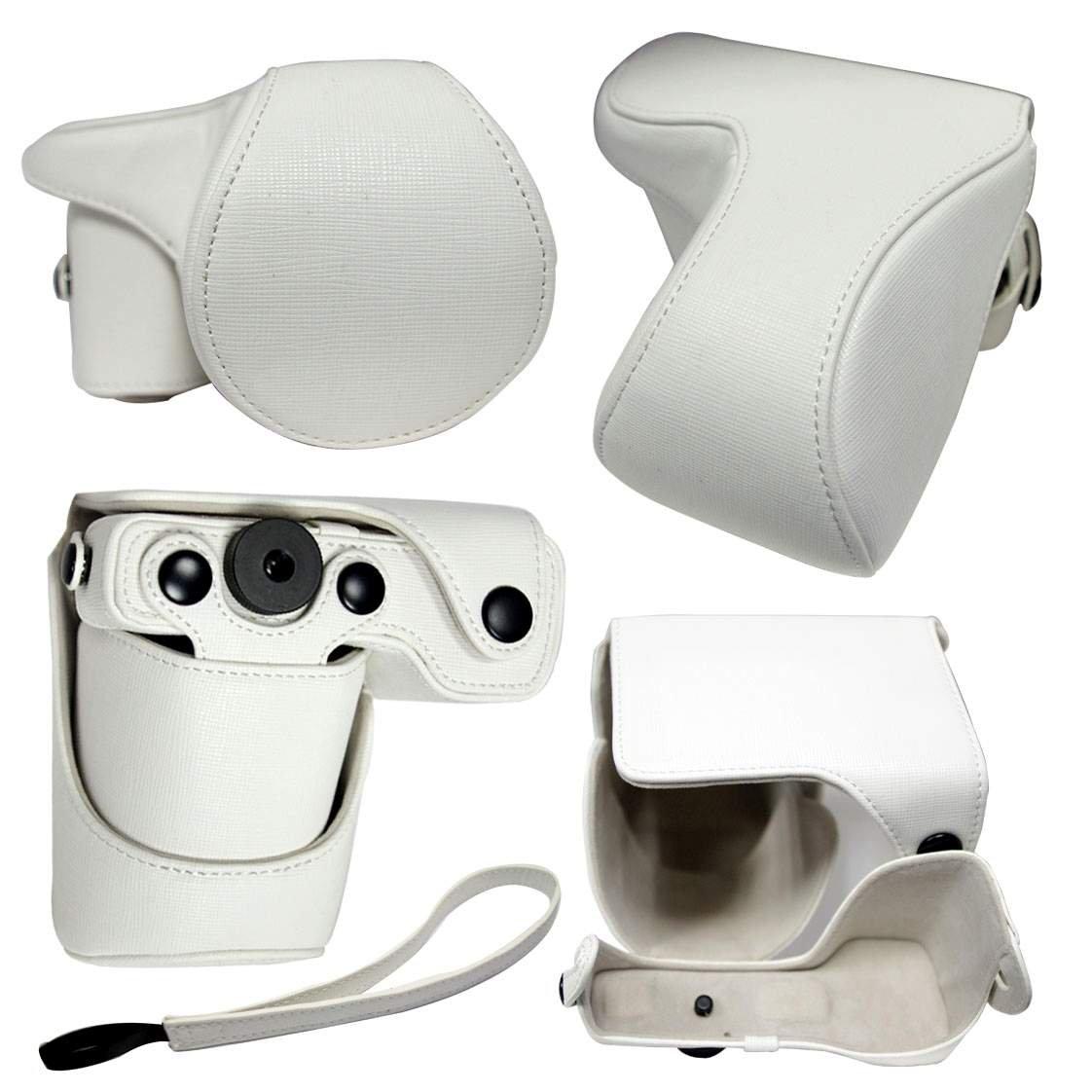 Sony Alpha NEX5 NEX NEX5K/B Digital Camera leather case bag  in black, white, red, or brown