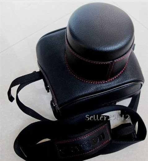 leather case bag for Canon EOS 550D / Rebel T2i Digital SLR Camera 18-55mm f/3.5-5.6 IS Lens