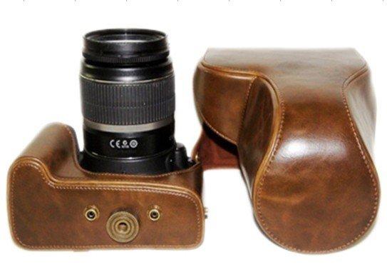 WP25: Leather case bag to Canon EOS 500D 550D 1000D 450D 400D 350D 300D Digital SLR camera