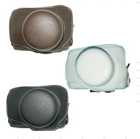 WP30: leather case bag to Olympus PEN E-P1 EP1 E-P2 EPS digital camera