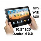 "10.2"" MID iPed Android 2.2 1GHz CPU 8GB Storage GPS"