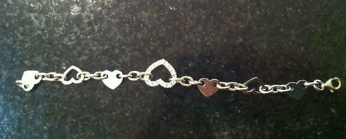 2.x CT Diamond heart shaped bracelet 18k white gold