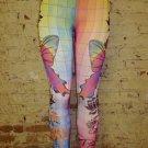Multi Print Leggings Large 10-12