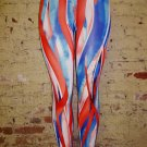 Multi Blue and Red Legging Large