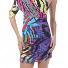 Multi Zebra Dress Small
