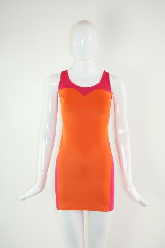 Hot Pink and Orange Tank Dress