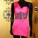 Hot Pink Corset Dress