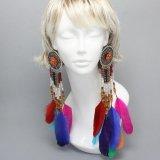 Multi Feather earring