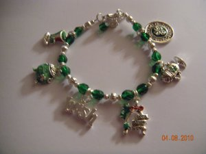 St Patricks Day Charm Bracelet