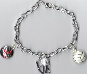 Volleyball Charm Bracelet
