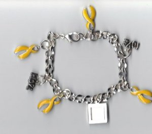 Support the Troops Charm Bracelet