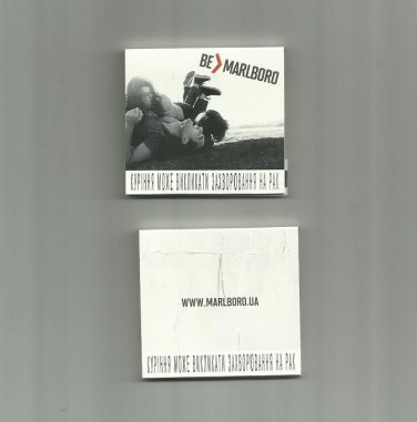 MARLBORO CIGARETTE ADVERTISING MATCHBOOK FROM UKRAINE