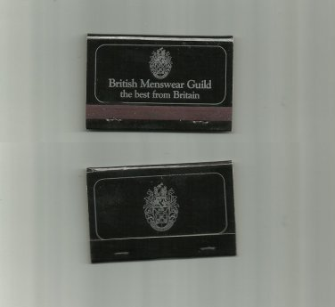 BRITISH MENSWEAR GUILD ADVERTISING MATCHBOOK FROM THE UNITED KINGDOM